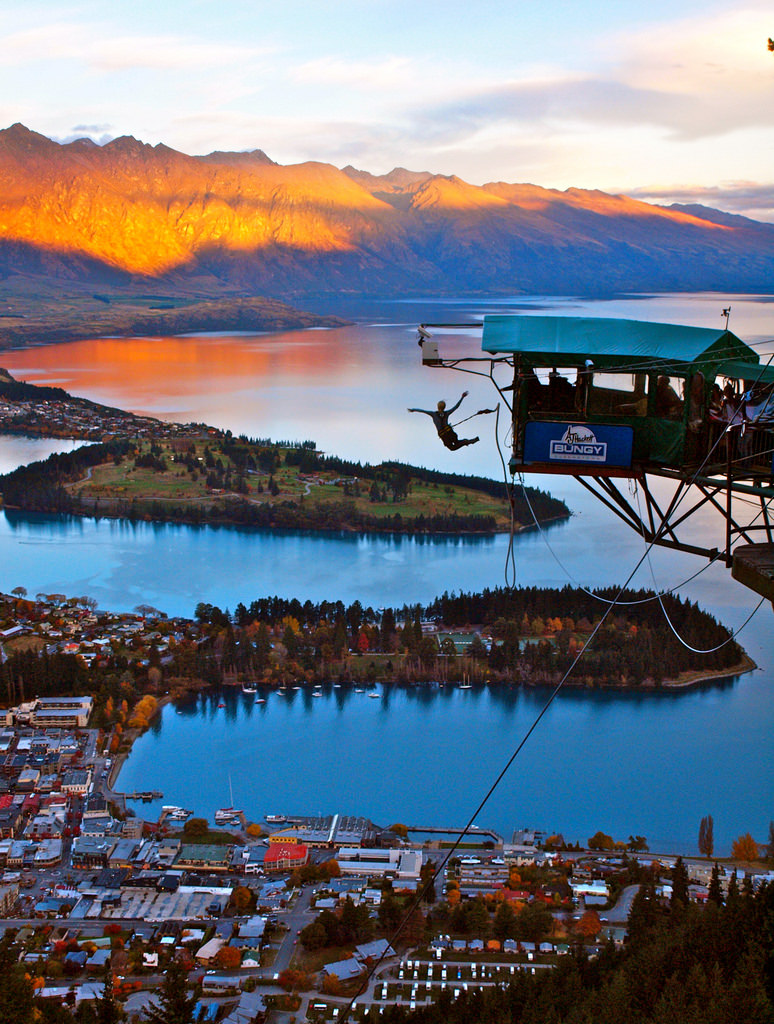 Bungee jumping platform 400 meters above Queenstown, New Zealand. by Very Nice