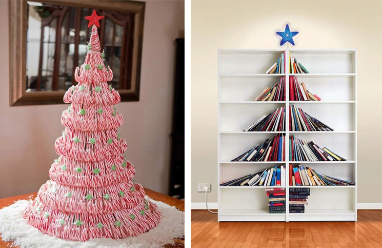 20 awesome christmas tree alternatives. Black Bedroom Furniture Sets. Home Design Ideas