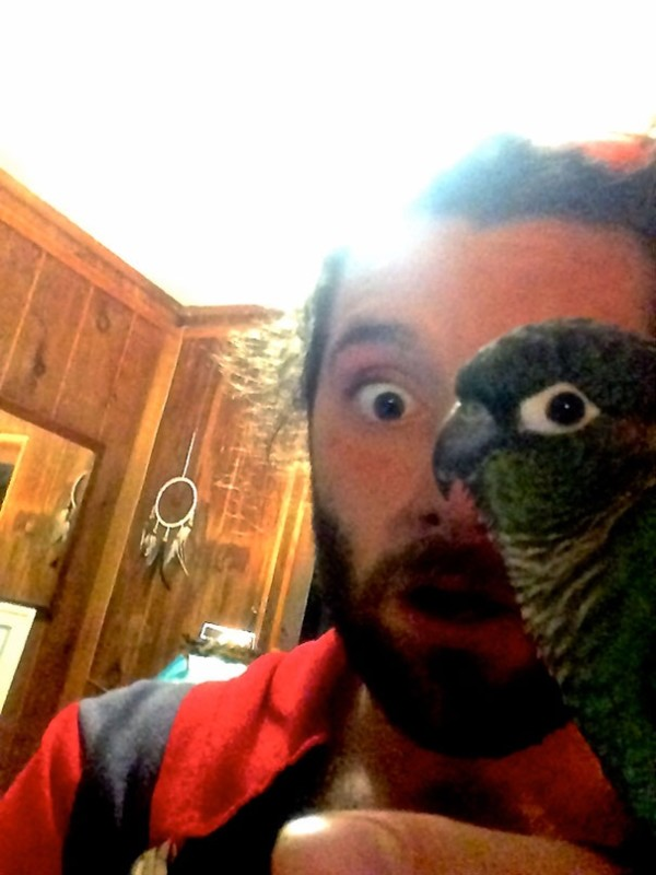 2. This man who is half-conure!