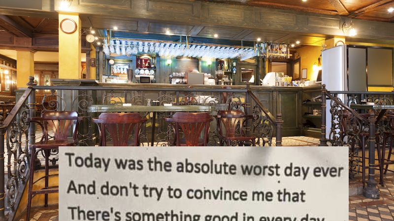 A Poem Anonymously Posted In A London Bar Is Driving