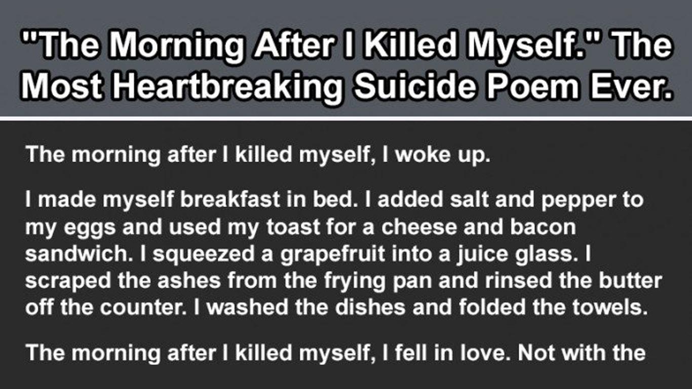 i killed myself poems