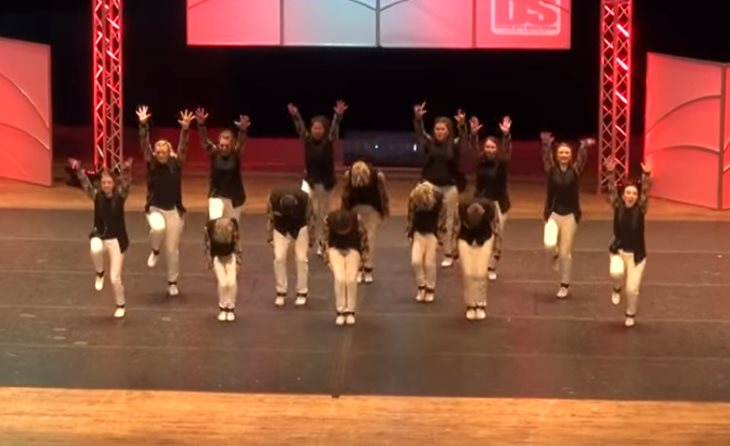 Clogging champions win crowd with fun and difficult routine -